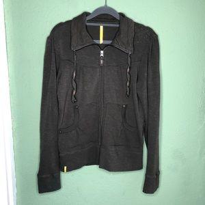 Lole Athletic Zip Up Jacket Olive Green Size M